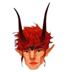 Mythological demon head vector image