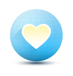 round icon with heart vector image vector image
