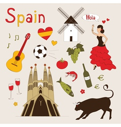 Spain set vector image vector image