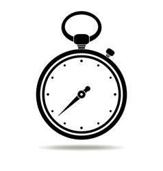 Stopwatch black icon vector image