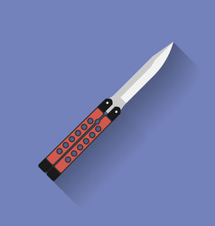 Icon of butterfly knife or balisong Flat style vector image vector image