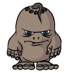 Small drawing an angry monster vector image vector image