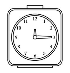 Square alarm clock icon outline style vector