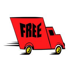 truck icon cartoon vector image