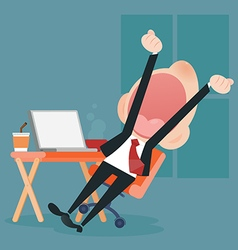 yawning vector image