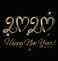 2020 happpy new year vector image