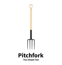 a garden fork vector image