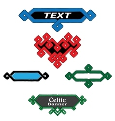 A set of banners in Celtic style vector