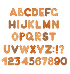 abc set latin letters numbers and symbols with vector image