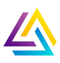 Abstract triangular colorful logo vector