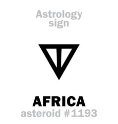 Astrology asteroid africa vector