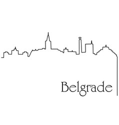 belgrade city one line drawing background vector image