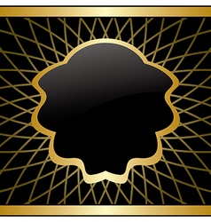 black and gold background - frame with gradient vector image