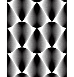 Black and white abstract seamless pattern with vector