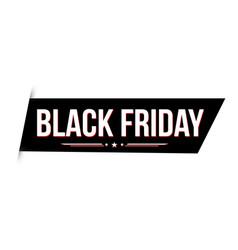 black friday banner design vector image