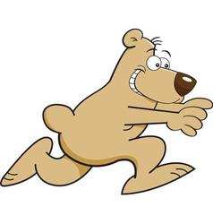 Cartoon running bear vector image