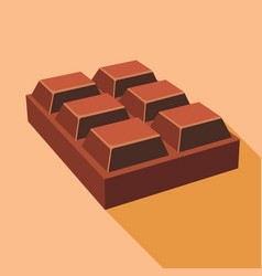 chocolate icon flat style vector image