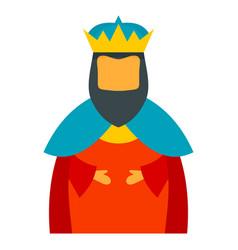 christian epiphany king icon flat style vector image