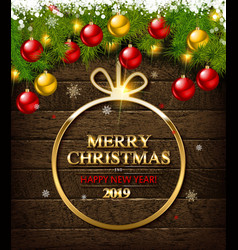 christmas typographical background vector image