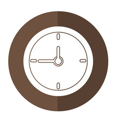 Clock time school shadow vector