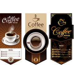 coffee templates vector image
