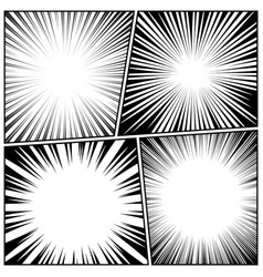 comic book radial lines collection comics vector image