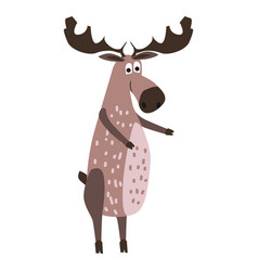 Cute moose forest animal suitable for books vector