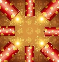 Diwali festival cracker vector