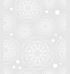 doodle flower motif low contrasting white drawing vector image