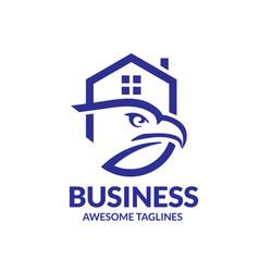 eagle house vector image