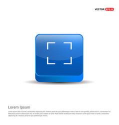 frame icon - 3d blue button vector image