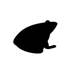 frog silhouette for natural design vector image
