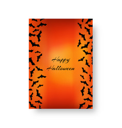 Funny background with bats for halloween vector