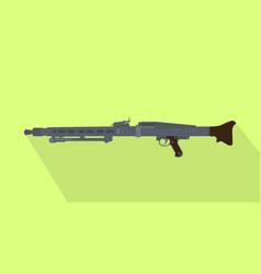 German iconic popular automatic machine gun vector