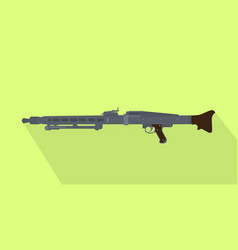 german iconic popular automatic machine gun with vector image