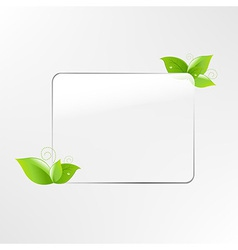 Glass Frame With Leaf vector