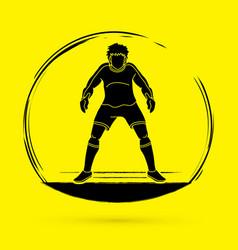 goalkeeper soccer vector image