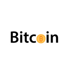 golden bitcoin icon isolated on white background vector image