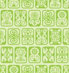 Green tile pattern vector image