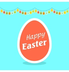 Happy Easter of funny eggs vector
