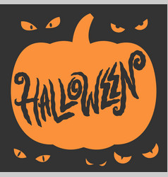 happy halloween party lettering card vector image