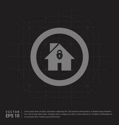 home icon - black creative background vector image