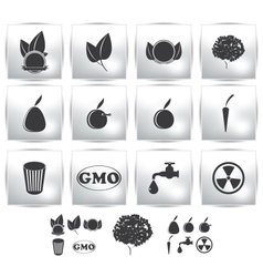 icons set Nature environment vector image