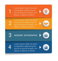 Infographics from color strips modern vector