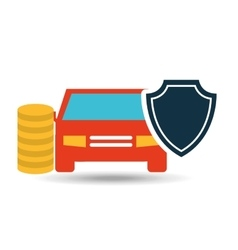 Insurance protection car money safety design vector