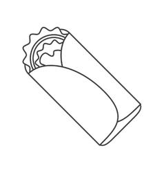 Isolated mexican burrito design vector