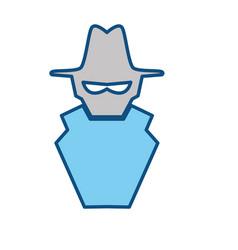 Isolated spy hacker vector