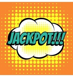 Jackpot comic book bubble text retro style vector image