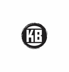 Kb logo initial letter monogram with abstract vector