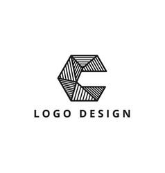 letter c geometric logo design template vector image